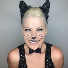 meow kitty cat makeup for halloween