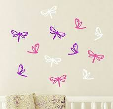 12 Mixed Dragonfly Wall Stickers Car Decal Removable Any Colour Baby Nursery Ebay