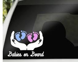 Boy Twins Safety Car Sticker Baby Gift Twins On Board Owls Baby On Board