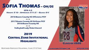 Sofia Thomas - Class of 2020 - OH/DH - 2019 Central Zone ...
