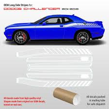 Dodge Challenger Side Stripes Decals 2011 2014