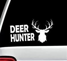 Deer Hunter Decal Sticker For Car Window Deer Antlers Decal Etsy Hunting Decal Car Stickers Deer Hunters