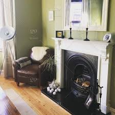 modern victorian living room with cast