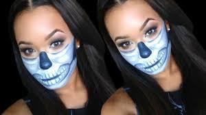diy half sugar skull makeup