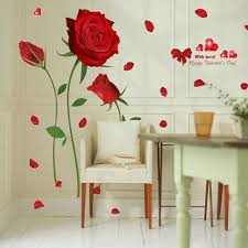 Mega Deal B89b Red Rose Wall Decal Mural Removable Flowers Stickers Vinyl Art Diy Home Decor Iy Flowers Pvc Home Decals Mural Arts Poster Yb Wordshelf Co