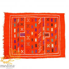 carpet berber orange ethnic patterns