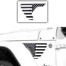 Amazon Com Bogar Tech Designs Precut Side Fender Vent American Flag Vinyl Decal Compatible With Jeep Wrangler Jl 2018 2020 And Gladiator 2020 5d Glossy Carbon Fiber Black Automotive