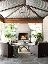 outdoor fireplace ideas better homes