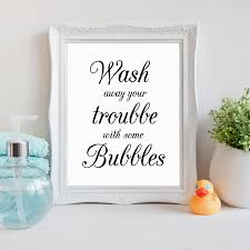 Wash Your Worries Away Quote Wall Art Canvas Print Poster Bathroom Prints Painting Home With Free Shipping Worldwide Weposters Com