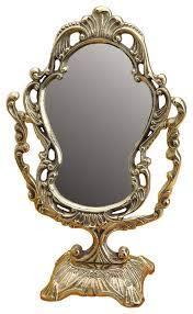 antique cast brass vanity mirror table