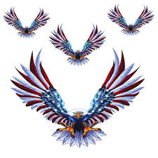 Amazon Com Practisol Bald Eagle Car Decals American Flag Sticker 3 Sizes 4 Pack Car Decal Graphics Vinyl Stickers Decals For Cars Automotive
