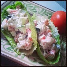 Imitation Crab Meat Lettuce Wraps ...