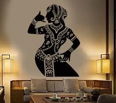 Vinyl Wall Decal Indian Dancer Girl Devadasi Hindu Woman Dance Studio Stickers Unique Gift 776ig Art Studio At Home 3d Wall Painting Art