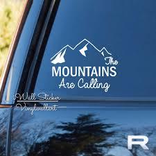 Mountains Are Calling Car Sticker Quotes Car Decal Diy Car Decors Removable Decoration High Quality Cut Vinyl Ca8 Aliexpress Com Imall Com