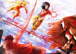 anime war by purevassy naruto vs goku vs luffy vs ichigo