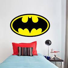 Batman Logo Wall Decal Batman Wall Decal Hero Boys Bedroom Wallpaper Mural Sticker Superhero Wall Design Primedecals
