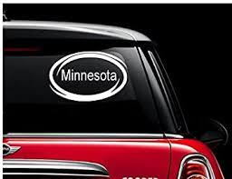 Amazon Com Minnesota Window Decal Sticker For Car Truck Auto Suv Decals Stickers Bumper Window Minnesota Automotive