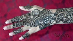 mehndi design back side bridal