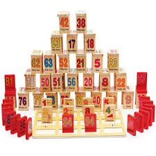 Đồ chơi gỗ Domino học số học phép toán - Totdepe1130