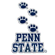 5 5 Inch Paws Over Penn State Decal Sticker Lions Pride