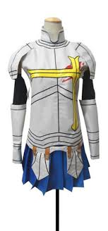 buy costume made anime fairy tail erza scarlet purple cosplay