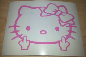 Hello Kitty Face Only With Whisker Bow Car Vinyl Window Decal Decals Sticker 6 For Sale Online Ebay