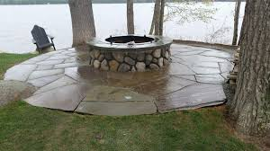 river rock for fire pit fireplace