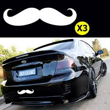 Xotic Tech 3pcs 7 Euro Funny Italian White Mustache Car Window Die Cut Graphic Vinyl Decals For Suv Truck Car Bumper Laptop Wall Mirror Motorcycle Window Walmart Com Walmart Com
