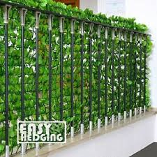 Artificial Faux Ivy Leaf Hedge Panels 3m Roll Privacy Screening Garden Fence Ebay