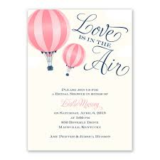 air bridal shower invitation