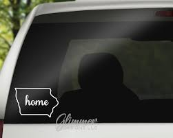 Iowa Decal Car Stickers Vinyl Decal Car Window Decal Etsy