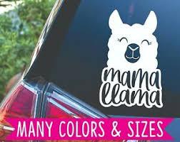 Mama Llama Mom Life Car Planner Tumbler Vinyl Decal Sticker Ebay