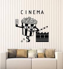 Vinyl Wall Decal Cinema Ticket Movie House Popcorn Filming Stickers Mu Wallstickers4you