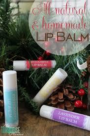 homemade all natural lip balm the