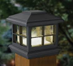 Patriot Lighting Low Voltage Led Melvin Post Cap With Black Finish And Clear Seeded Glass Outdoor Post Lights Post Lighting Post Lights
