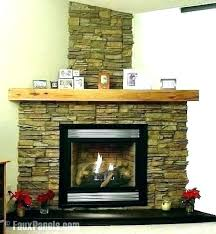 fake stone fireplace home depot with
