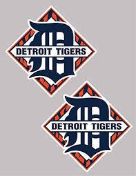 Amazon Com Set Of 2 Tigers Vinyl Sticker Decal For Cornhole Car 15 Each Detroit Everything Else