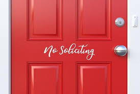 Vinyl Decal No Soliciting Decal For Front Door Decal Etsy