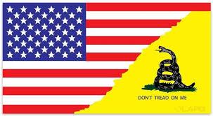 La Police Gear Large Don T Tread Split Flag 5 7 X 3 Decal La Police Gear