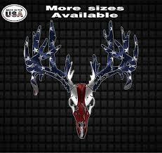 American Flag Deer Skull Vinyl Decal Sticker Hunting Car Truck Window Decals Ebay