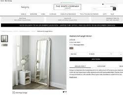 the white company madison mirror 150