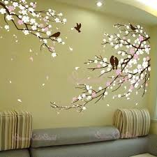 Cherry Blossoms Wall Decal Wall Sticker Tree Decals Dk006 Etsy Mural Wall Art Tree Wall Decor Wall Painting Decor
