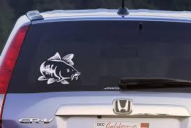 Cat Fish Decal Sticker Fisherman Fishing Catfish Decal Sticker Car Window Decal Wall Sticker Labtop Decal Vinyl Fishing Decals Car Window Decals Vinyl Art