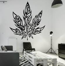 Marijuana Pot Leaf Tribal Tattoo Large Wall Decal Mural Art Sticker 24 Dope Ebay