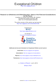 giftedness and gifted education