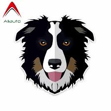 Aliauto Lovely Car Sticker Border Collie Dog Decoration Vinyl Decal Cover Scratches For Smart Hyundai I40 Bmw E92 Audi 14cm14cm Car Stickers Aliexpress