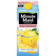 minute maid pink lemonade carton 59 fl