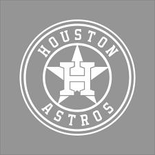 Houston Astros Mlb Team Logo 1 Color Vinyl Decal Sticker Car Window Wall Ebay Cricut Projects Vinyl Monogram Stickers Vinyl Decal Stickers
