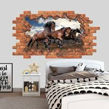 Shop Animal Wall Decal Horses Hole In Wall Overstock 32271359