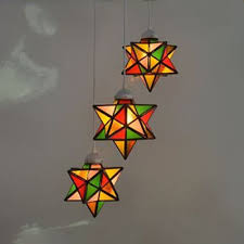 shade hanging lamp stained glass